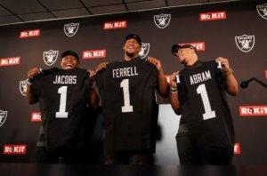 Raiders introduce their three first round picks