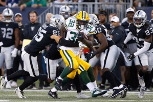 Raiders Packers Football
